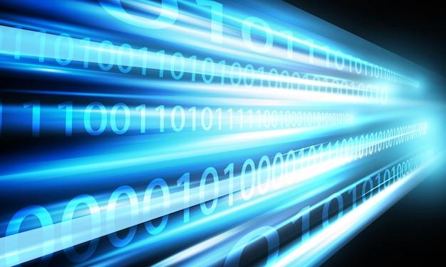 Скорость сети с двоичными данными