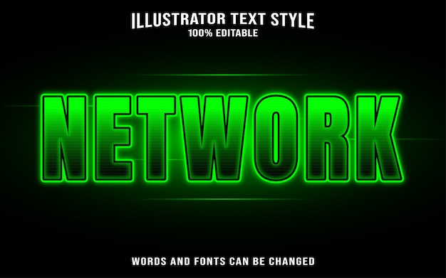 Network text style