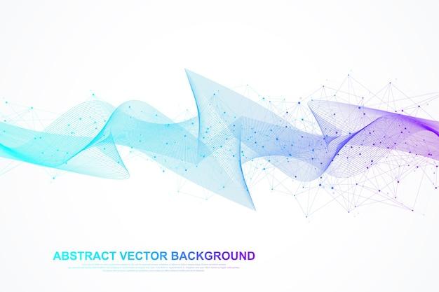 ネットワーク接続の概念。ポイントとラインを使用したグローバルネットワーク接続。バックグラウンド