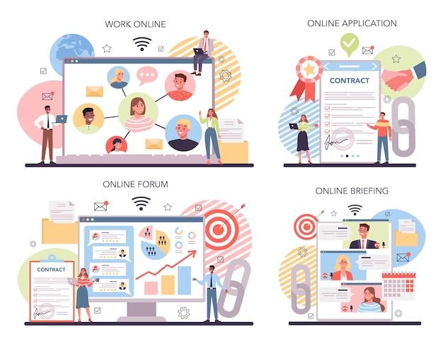 Networking online service or platform set