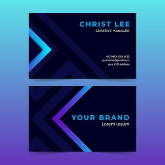 Neumorph abstract business card template