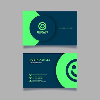 Neumorph business card template style