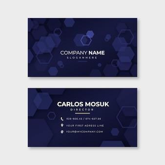 Шаблон визитной карточки neumorph