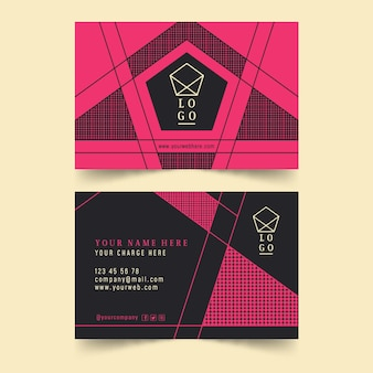 Neumorph business card template
