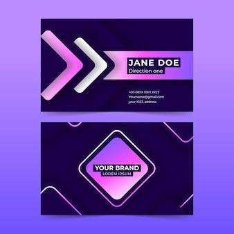 Neumorph business card template