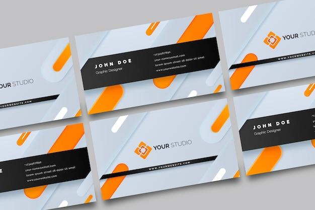 Neumorph business card