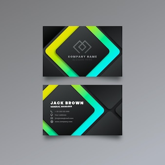 Neumorph colorful business card template