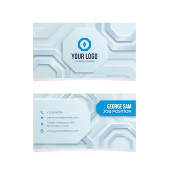 Neumorph geometric business card template