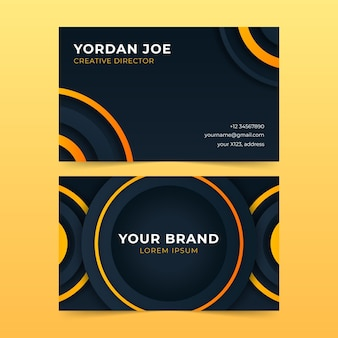 Neumorph geometric business card template