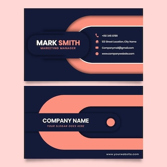 Neumorph geometric shape business card
