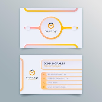 Neumorph gradient business card