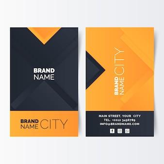 Neumorph orange details business card template