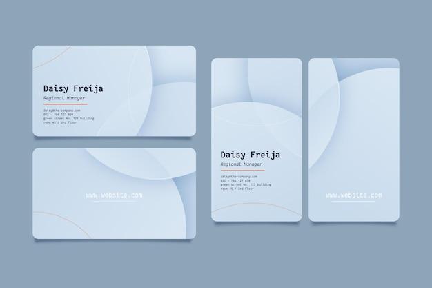 Шаблон визитки из серебра neumorph