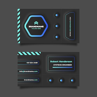 Neumorph style business card template