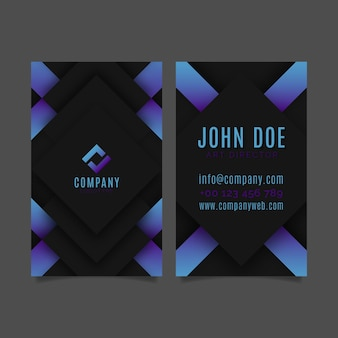 Neumorph vertical business card template