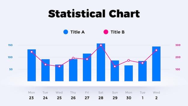 Neumorphic chart vector infographic graph options presentation diagram template neumorphism