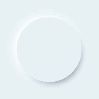 Neumorphic design ui circle element for mobile app and website interface