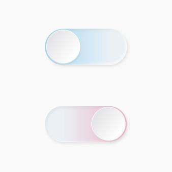 Неуморфный световой выключатель пользовательского интерфейса графические элементы рабочего процесса в skeuomorph trend design elements для интеллектуальных технологий и приложений
