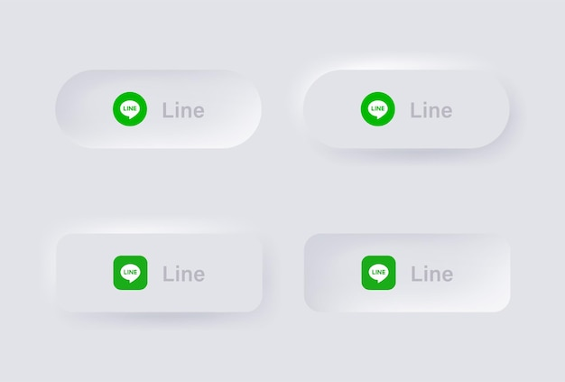 Neumorphic wechat logo icon for popular social media icons logos in neumorphism buttons ui ux
