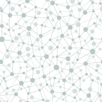 Neural network seamless pattern. neural network of nodes and connections. vector illustration on white background