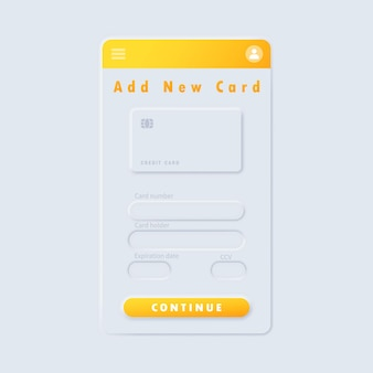 Neuromorphic or neomorphic ui ux white user interface
