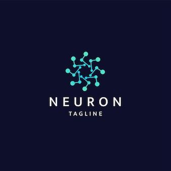 Neuron logo icon design template flat vector