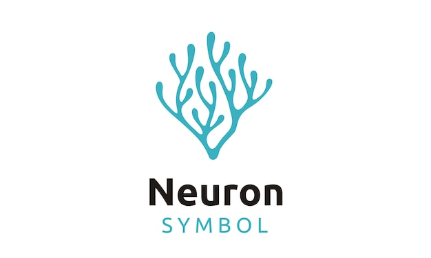 Neuron / seaweed logo design