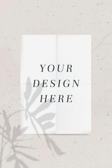 Neutral color tone poster mockup