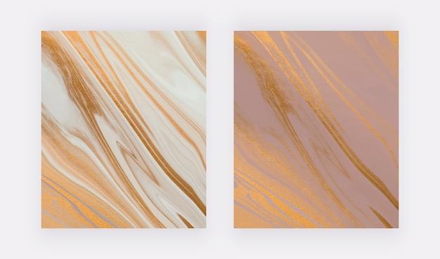 Нейтральные жидкие чернила с текстурой фольги, рисующей абстрактные фоны.
