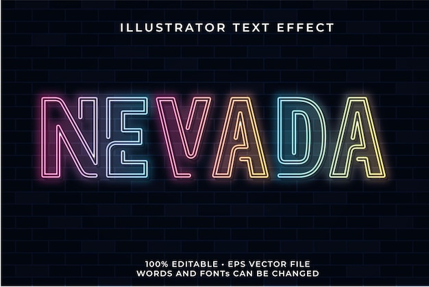 Nevada neon text effect