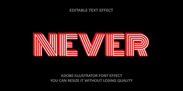 Never editable text effect
