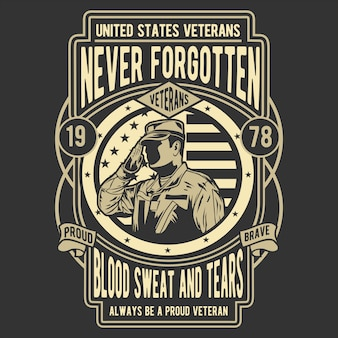 Never forgotten veteran