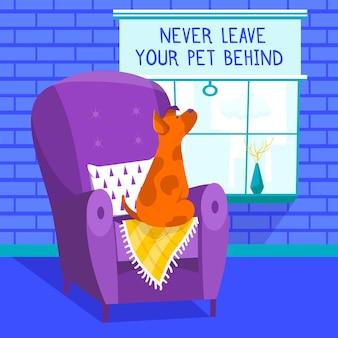 ペットを置き去りにしないでください