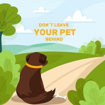 애완 동물을 버리지 마십시오