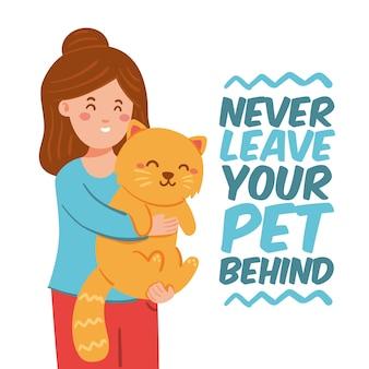 Non lasciare mai il tuo animale domestico dietro un design piatto