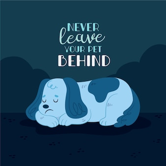 Never leave your pet behind
