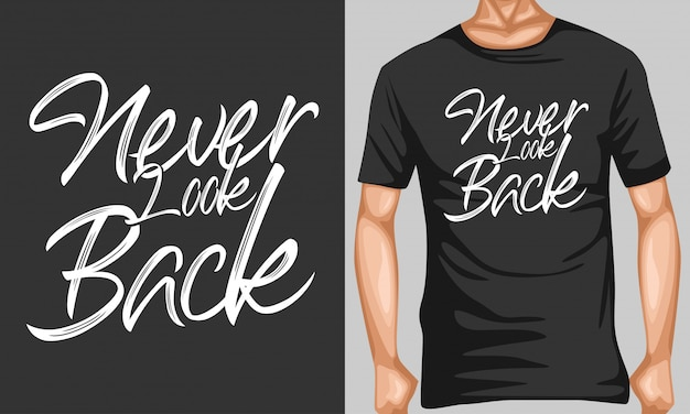 Never look back lettering quotes