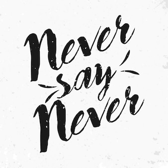 Never say never quote