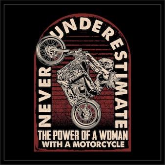 オートバイを持った女性の力を過小評価しないでください