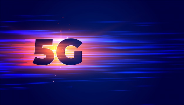 New 5g technology wireless connection background