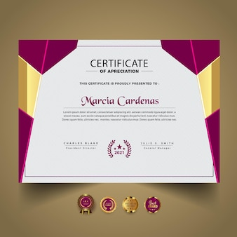 Новый шаблон оформления абстрактного сертификата
