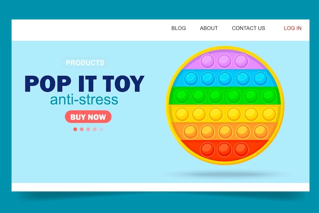 New anti-stress toy. pop it. in a cartoon style. isolated object.