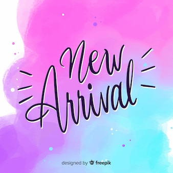 New arrival background in watercolor style