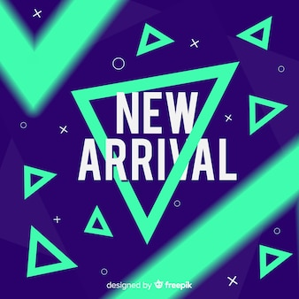 New arrival background in modern style