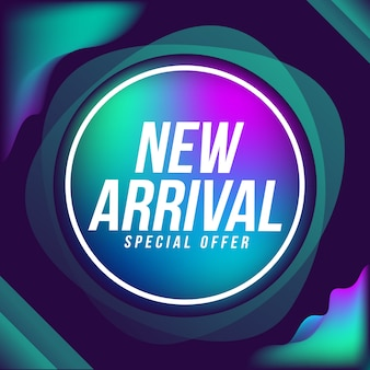New arrival banner sale abstract background
