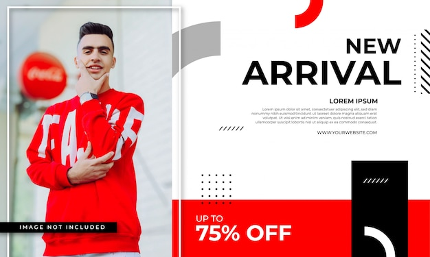 New arrival banner template