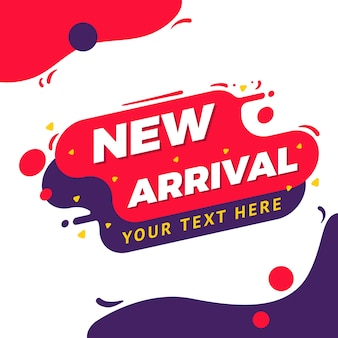 New arrival bannerスプラッシュ