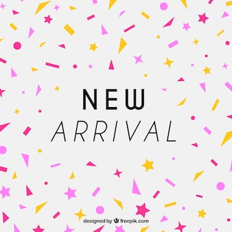 New arrival design with confetti concept