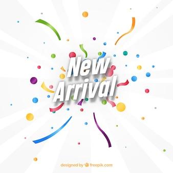 New arrival design with confetti concept