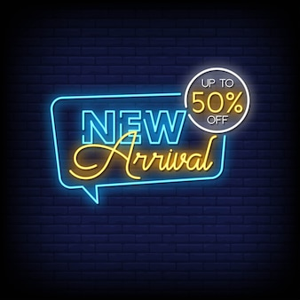 New arrival neon signs style text